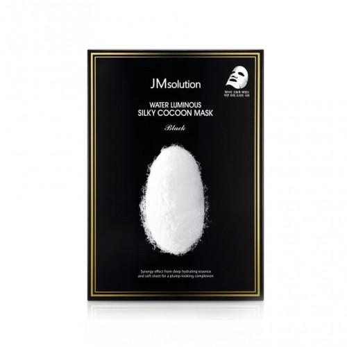 "Маска для упругости кожи с протеинами шелка Water Luminous Silky Cocoon Mask Black ""JMsolution"""