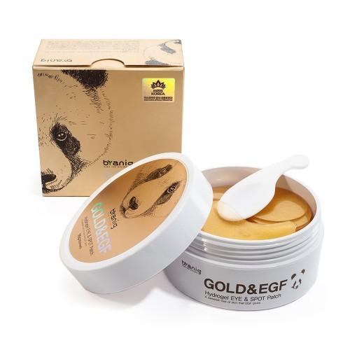 """Гидрогелевые патчи для век с коллоидным золотом Gold&EGF Hydrogel Eye&Spot Patch """"Byanig"""""""