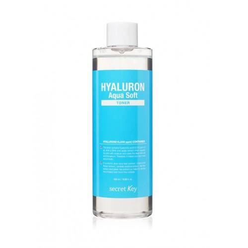 "Гиалуроновый тонер Hyaluron Aqua Soft Toner, 500 мл ""Secret Key"""