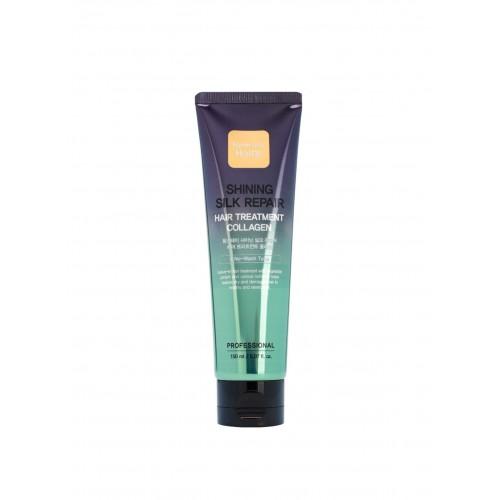 "Увлажняющая маска для волос с коллагеном Shining Silk Repair Hair Treatment Collagen ""Farm Stay"""