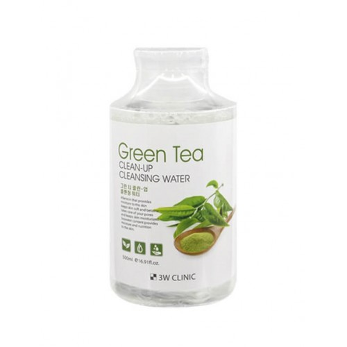 "Очищающая вода Green Tea, 500 мл ""3W Clinic"""