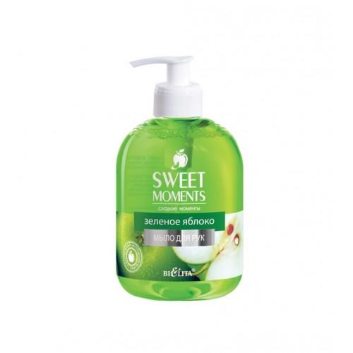 """Жидкое мыло для рук ЗЕЛЕНОЕ ЯБЛОКО """"Sweet moments"""" 500 мл """"Bielita"""""""