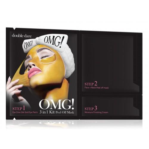 "Маска для лица Трехкомпонентная маска для очищения лица  OMG! 3in1 Kit Peel Off Mask 14,7 гр ""Double Dare"""