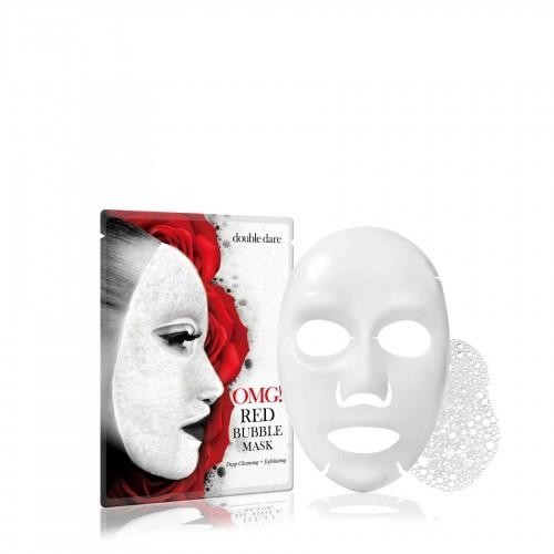 """Баббл-маска очищающая  OMG! Red Bubble Mask с экстрактами 8 красных растений 1 шт """"Double Dare"""""""