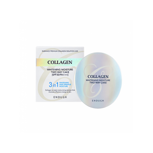 "Осветляющая пудра Тон 13 со сменным блоком Collagen Whitening Moisture Two Way Cake  SPF30 PA+++ ""Enough"""