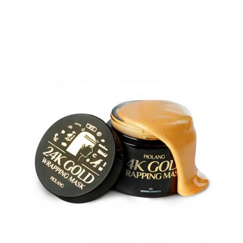 """Золотая маска для лица Piolang 24K Gold Wrapping Mask """"Esthetic House"""""""