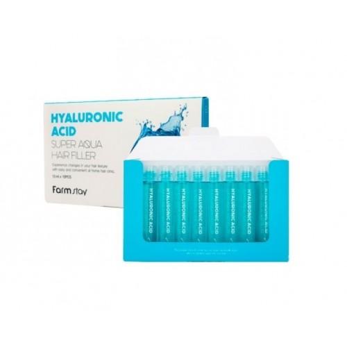"""Филлеры Hyaluronic Acid Super Aqua Hair Filler 13ml * 10pcs """"Farm Stay"""""""