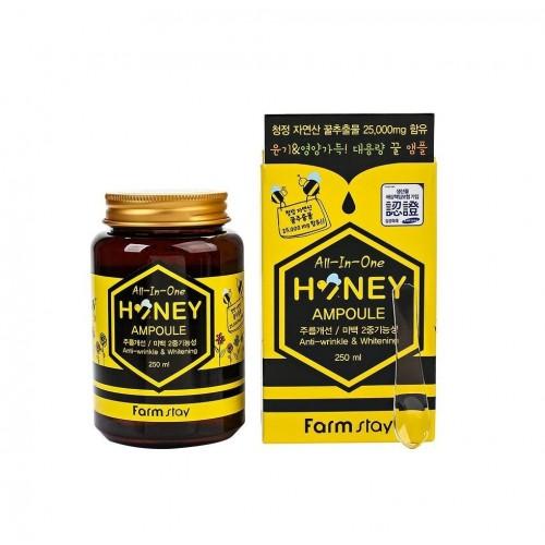 "Многофункциональная ампульная сыворотка All-in-one Honey Ampoule с медом 250 мл ""Farm Stay"""