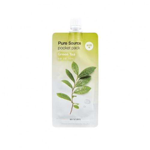 """Ночная маска Pure Source Pocket Pack Green Tea 10 мл """"MISSHA"""""""