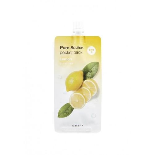 """Ночная маска Pure Source Pocket Pack Lemon 10 мл """"MISSHA"""""""