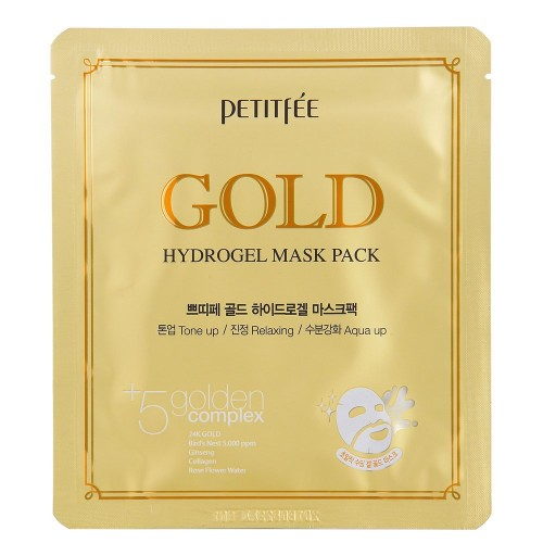 """Гидрогелевая маска для лица с золотом  Gold Hydrogel Mask """"Petitfee"""""""