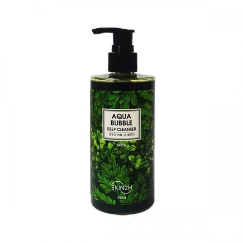 """Глубоко очищающее средство Aqua Bubble Deep Cleanser 300 ml Green """"SKIN2H"""""""