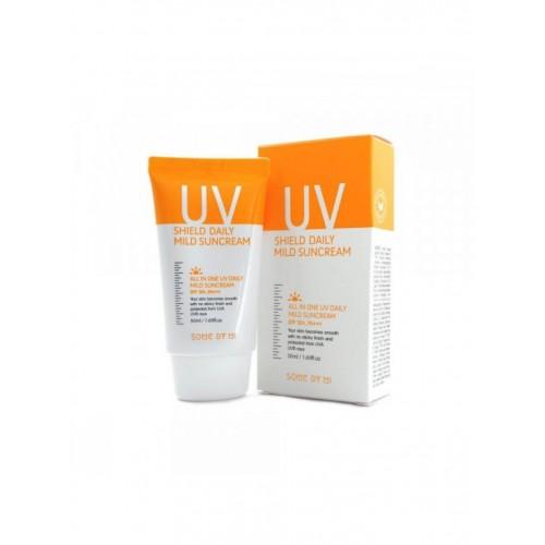"Солнцезащитный крем UV Shield Daily Mild Sun Cream SPF 50 PA+++ ""Some By Mi"""